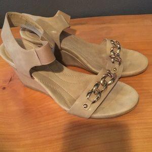Cream Wedge Sandal